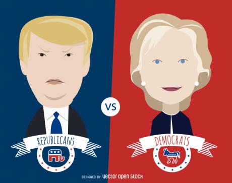 Donald-Trump-Hillary-Clinton-Debate-Photo-by-VectorOpenStock-460x363
