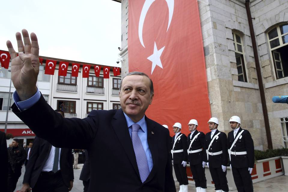 President Recep Tayyip Erdogan, whose purge of Turkey's corporate and finance sectors since a failed July coup worries international investors. PHOTO: YASMIN BULUL/PRESIDENTIAL PRESS SERVICE